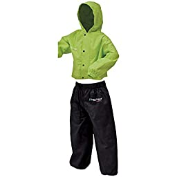 Frogg Toggs PW6032-148MD Polly Woggs Kid\'s Rain Suit, Green, Medium