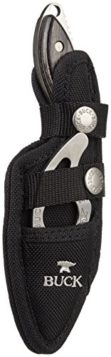 Buck 195/499 Mini Alpha Hunter Combo With Paklite Guthook (Black, 2 1/2-Inch Hunter 4-Inch Guthook)
