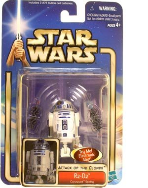 Star Wars: Episode 2 R2-D2 (Coruscant Sentry With Backdrop) Action Figure - 1