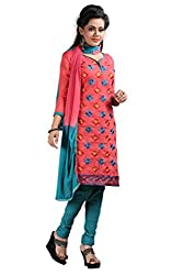 Krishna ECommerce Women's Salwar Suit Dress Material. (RedSquare)