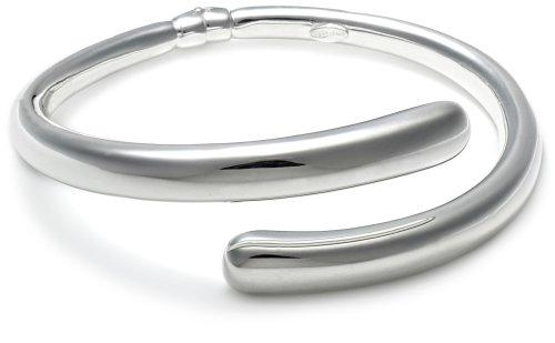 Silver Crossover Torque Bangle