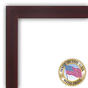 ArtToFrames FRBW26039-8x12 Mahogany Picture Frame, 1-1/4-Inch Wide