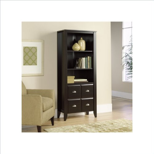 Shoal Creek Bookcase with Doors Jamocha