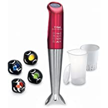 T-fal stick mixer click & mix Ruby Red HB460GJP