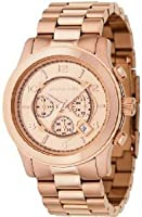 Michael Kors Runway Chronograph Rose Gold-tone Unisex Watch MK8096