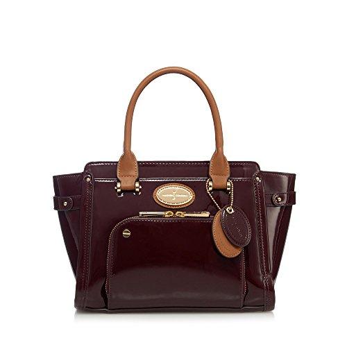 j-by-jasper-conran-womens-dark-red-patent-small-grab-bag