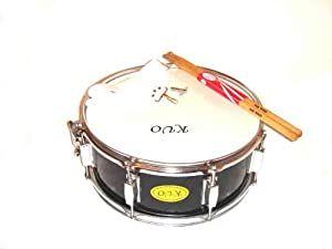 marching snare drum 14 x 6 5 w free sticks strap black musical instruments. Black Bedroom Furniture Sets. Home Design Ideas