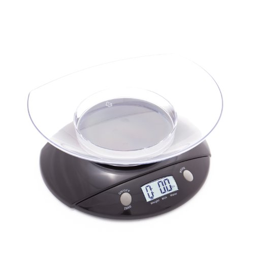 Buydirect2You Black Digital Kitchen Scale With Bowl