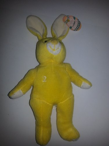 Salvino's Bamm Bunnies Gary Jeter # 2 Yellow Plush Bean Bag Bunny Issued April 1999 - 1