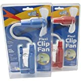 O2 Cool Flexi Clip Fan - O2 Cool 1261 - Colors may vary Package Quantity 1