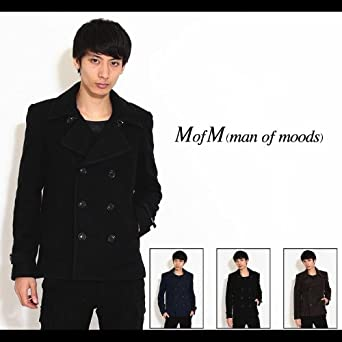 【MofM(manofmoods)】スライバーニット ピーコート2サイズブラウン
