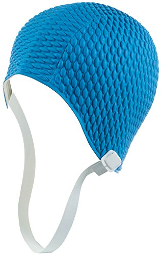 Retro Bubble Crepe Swim Bathing Cap with Chin Strap (Available in 6 colors)