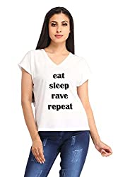 Snoby EAT SLEEP RAVE REPEAT Printed T-shirt (SBY1257)