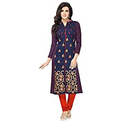 pakiza design new blue red cotton festival party wear salwar suit dress material
