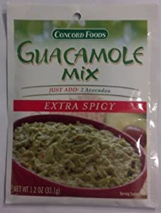 Concord Foods Guacamole Mix Extra Spicy 3 of 1.2oz pkgs