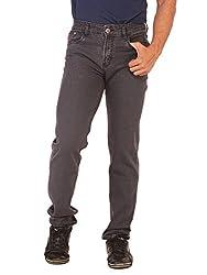RACE-Q Grey Basic Jeans for Men