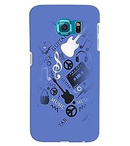 PrintVisa Music Guitar Quotes 3D Hard Polycarbonate Designer Back Case Cover for Samsung Galaxy S6 Edge