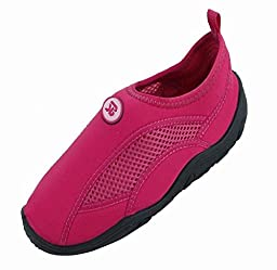 Brand New Toddlers Slip-On Athletic Fuchsia Water Shoes / Aqua Socks Size 9