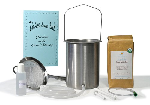"Purelife ""All You Need"" Coffee Enema Kit - Usa-Made Quality Stainless Steel Enema Bucket- 100% Non-Toxic"