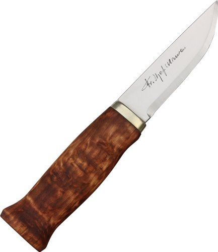 Brusletto Knives 44028 Nansen Fixed Blade Knife with Curly-Grained Birch Handles