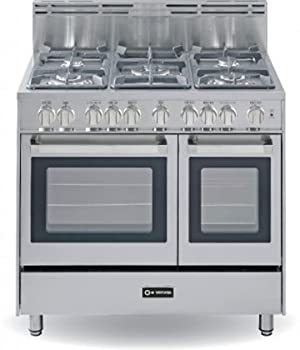 Verona VEFSGG365DSS 36 Stainless Steel Gas Sealed Burner Double Oven Range