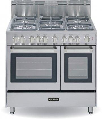 Verona-VEFSGG365DSS-36-Stainless-Steel-Gas-Sealed-Burner-Double-Oven-Range-Convection