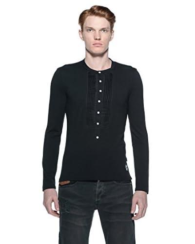 Just Cavalli Camiseta Manga Larga Negro