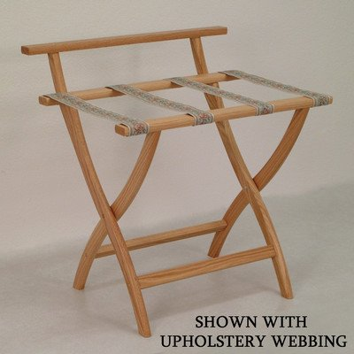 Wooden Mallet Wall Saver Luggage Rack, Light Oak, Tapestry Straps
