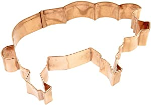 Old River Road Pig Shape Cookie Cutter, Copper