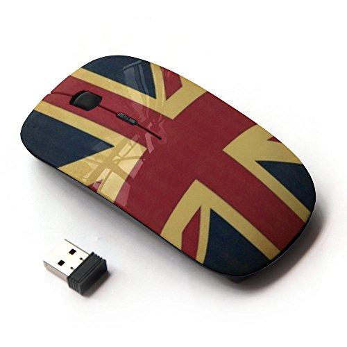 KawaiiMouse [ Mouse Senza Fili Ottico 2.4G ] Uk United Kingdom England Flag Gb