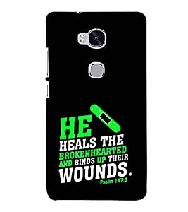 EPICCASE heals the broken heart Mobile Back Case Cover For Huawei Honor 5X (Designer Case)