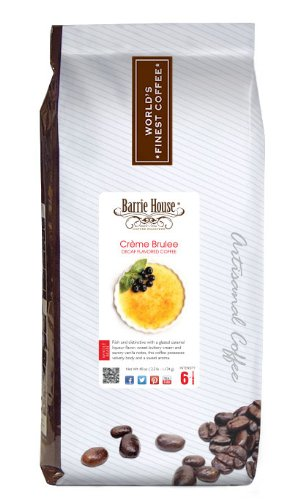 Barrie House Decaf Coffee Creme Brulee, Whole Bean 40 oz. (2.5 lb.) Bag