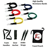 Resistance Bands Exercise Tubes for P90X-11 PCS Set