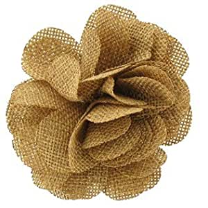 Amazon.com - Tan Burlap Flower Clip & Pin -