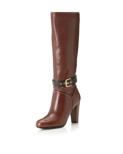 Rockport Women's Jalicia Buckle Knee-High Boot  - Cigar
