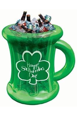 Amscan Mens St. Patrick's Inflatable Beer Mug Cooler