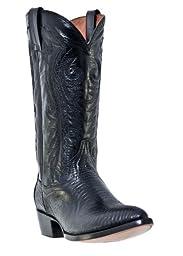Dan Post Men\'s Teju Lizard Western Boot Pointed Toe Black 10 EE US