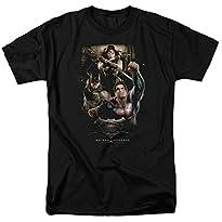 Three In Action Black T-Shirt Batman V Superman Dawn of Justice