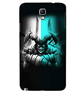 PrintVisa Modern Art Scary Face 3D Hard Polycarbonate Designer Back Case Cover for Samsung Galaxy Note 3 Neo