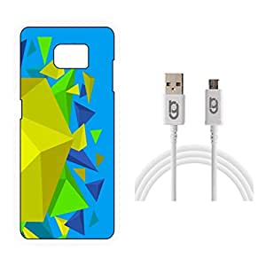 Designer Hard Back Case for Samsung Galaxy S7 Edge with 1.5m Micro USB Cable