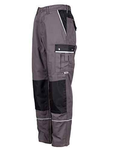TMG® - Pantaloni da lavoro style cargo - tasche per ginocchiere- Qualita Tedesco - grigio (W32 S / EU24)