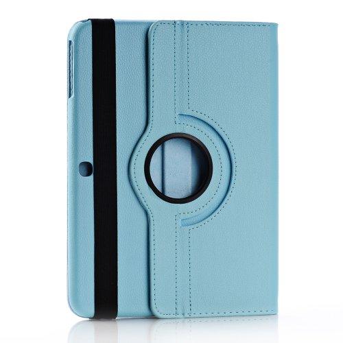 Foxnovo Samsung Galaxy Tab 3 10.1 Case - Slim Folding Cover Case For Samsung Galaxy Tab 3 10.1 Inch Gt-P5200 / Gt-P5210 Android Tablet With Free Screen Guard Stylus Pen And Cloth Set (Sky-Blue)