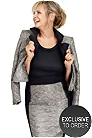 Twiggy for M&S Woman Sparkle Tweed Biker Jacket