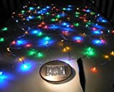 GudCraft Solar Powered 35-Foot Holiday String Lights, 100 LED Multicolor