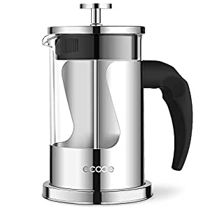 ecooe kaffeebereiter teabereite caffettiera french press kaffeefilter 20 oz edelstahl. Black Bedroom Furniture Sets. Home Design Ideas