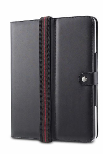 Acase Leather Flip Book Jacket/Folio for Apple iPad Tablet WiFi/3G, Black