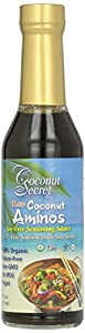 Coconut Secret Organic Raw Coconut Aminos Soy-Free Seasoning Sauce-8 Oz Frustration Free Packaging