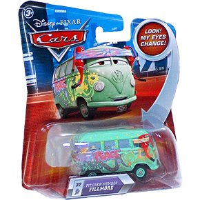 Disney Cars P7031 Pit Crew Member Fillmore Look my eyes change