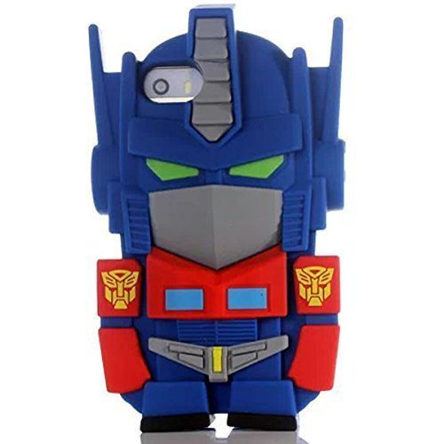 kangweichuang Iphone 5C Transformers Case,3D Cartoon Hero Robot Transformers Back Cover Back Cover Soft Silicone Case for Apple Iphone 5C (Iphone 5s French Fries 3d Cases compare prices)