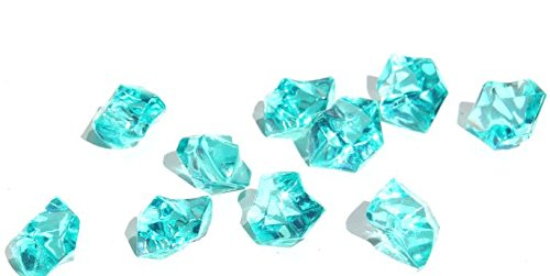 Ice Rock Crystals Treasure Gems for Table Scatters, Vase Fillers, Event, Wedding, Birthday Decoration Favor, Arts & Crafts (1 lb. Bag) by Homeneeds Inc (AQUA BLUE) (Ice Rock Gems compare prices)